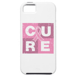 CURE Breast Cancer Distressed Cube iPhone SE/5/5s Case