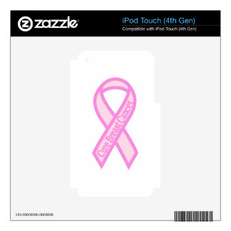 Cure Breast Cancer iPod Touch 4G Skins