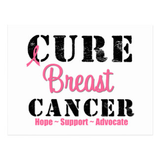 Cure Breast Cancer Postcard