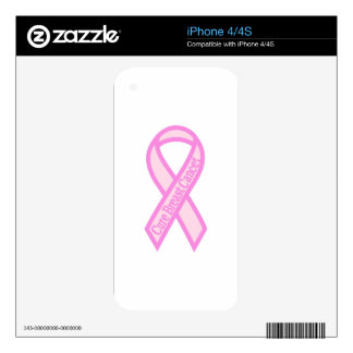 Cure Breast Cancer Skin For iPhone 4S