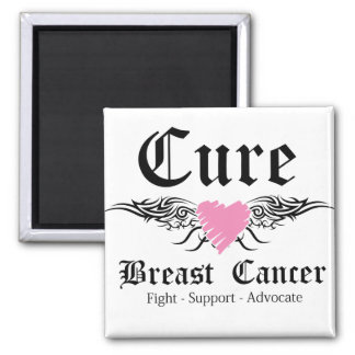 Cure Breast Cancer Tattoo Wings Fridge Magnet