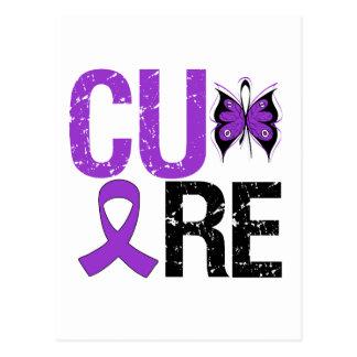 CURE Butterfly Ribbon Alzheimer's Disease Postcard