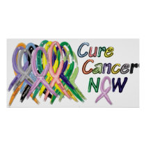 Cure Cancer NOW Awareness Poster