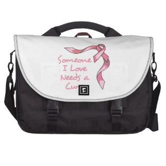 CURE CANCER RIBBON BAG FOR LAPTOP
