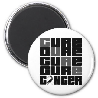 CURE Carcinoid Cancer Collage 2 Inch Round Magnet