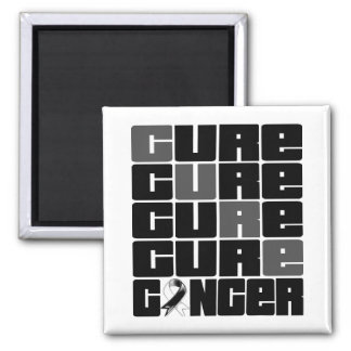 CURE Carcinoid Cancer Collage 2 Inch Square Magnet