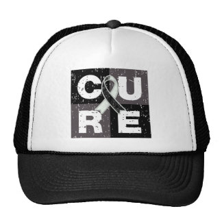 CURE Carcinoid Cancer Distressed Cube Trucker Hat
