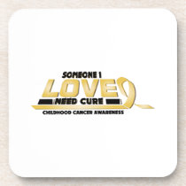 Cure Childhood Cancer Awareness Beverage Coaster