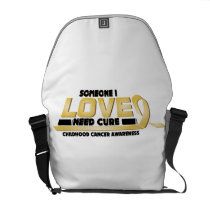 Cure Childhood Cancer Awareness Courier Bag
