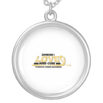 Cure Childhood Cancer Awareness Silver Plated Necklace