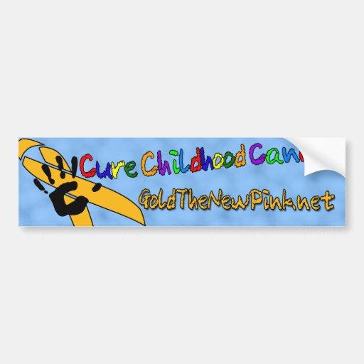 Cure Childhood Cancer BumperSticker Bumper Sticker