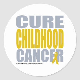 Cure Childhood Cancer Classic Round Sticker