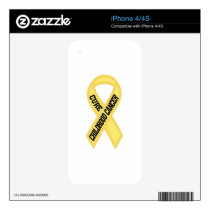 Cure Childhood Cancer Decal For iPhone 4