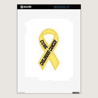 Cure Childhood Cancer Decals For iPad 2
