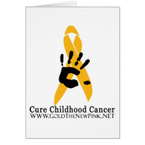 Cure Childhood Cancer Greeting Card