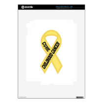 Cure Childhood Cancer iPad 2 Decal