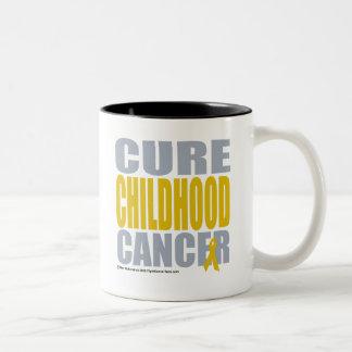 Cure Childhood Cancer Two-Tone Coffee Mug