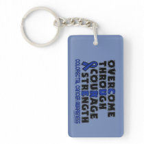 CURE...COLORECTAL CANCER KEYCHAIN