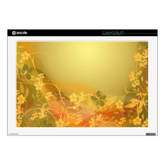 "Cure colorful flower creepers skins for 17"" laptops"