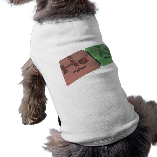 Cure como él aluminio del helio y del Al Camisetas Mascota