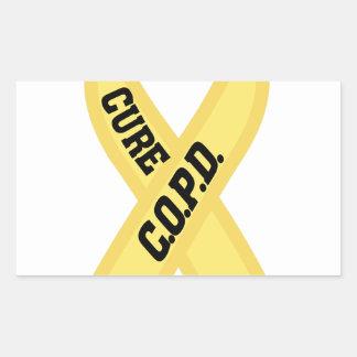 Cure COPD Rectangular Sticker