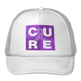 CURE Crohn's Disease Distressed Cube Trucker Hat