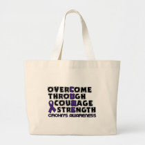 CURE...Crohn's Large Tote Bag