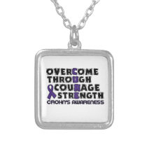 CURE...Crohn's Silver Plated Necklace