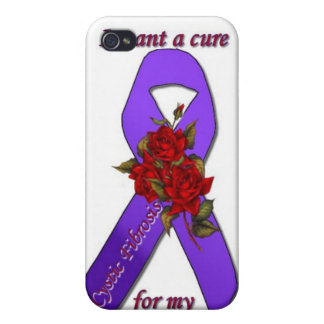 CURE CYSTIC FIBROSIS FOR MY DAUGHTER iPhone 4 COVER