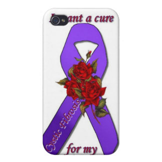 CURE CYSTIC FIBROSIS FOR MY SISTER iPhone 4 CASE