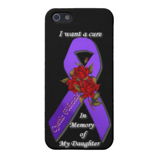 CURE CYSTIC FIBROSIS IN MEMORY OF MY DAUGHTER COVER FOR iPhone SE/5/5s