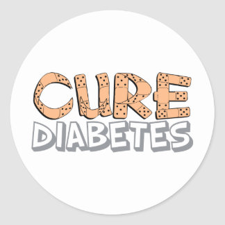 Cure Diabetes Classic Round Sticker