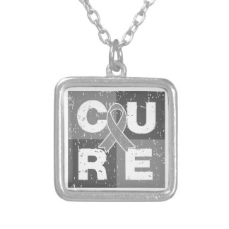 CURE Diabetes Distressed Cube Personalized Necklace
