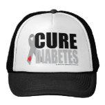 Cure Diabetes Ribbon Hats