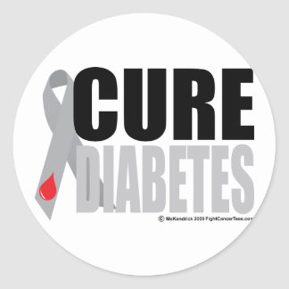 Cure Diabetes Ribbon Stickers