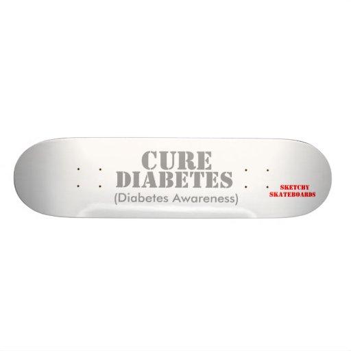 Cure Diabetes. Skate Board