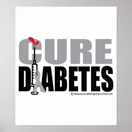 Cure Diabetes Syringe Poster