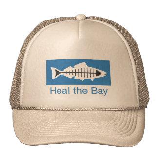 Cure el casquillo básico del logotipo de la bahía gorros