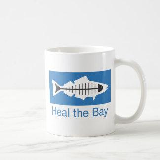Cure el Swag de la bahía Taza Básica Blanca