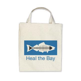 Cure el tote básico del logotipo de la bahía bolsa