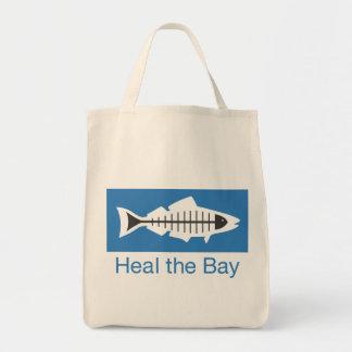 Cure el tote básico del logotipo de la bahía bolsa tela para la compra