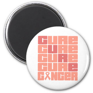 CURE Endometrial Cancer Collage 2 Inch Round Magnet