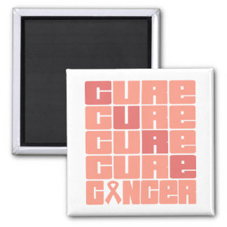 CURE Endometrial Cancer Collage 2 Inch Square Magnet