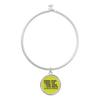CURE...Endometriosis Bangle Bracelet