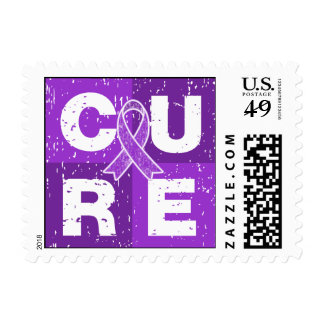 CURE Epilepsy Distressed Cube Postage Stamp