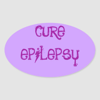 CURE EPILEPSY OVAL STICKER