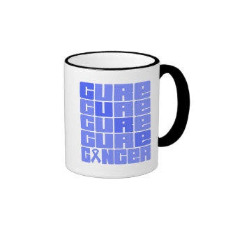 CURE Esophageal Cancer Collage Ringer Coffee Mug