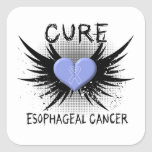 Cure Esophageal Cancer Square Stickers