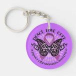 Cure Fibromyalgia Butterfly Keychain