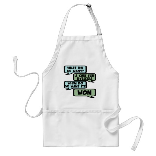 Cure for dyslexia adult apron